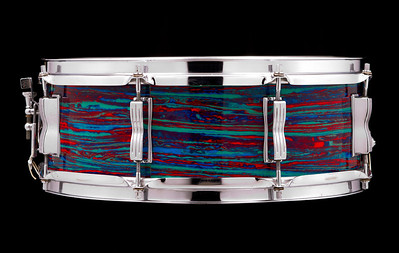 Ludwig, Jazz, Festival, snare, drum, Psychedelic, Red, P-83, vintage