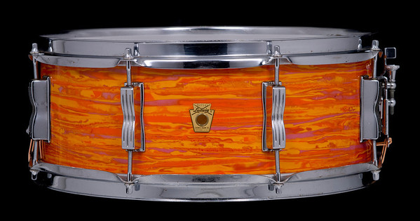Ludwig, Jazz, Festival, Vintage, Snare, Drum, Keystone, Mod, Orange