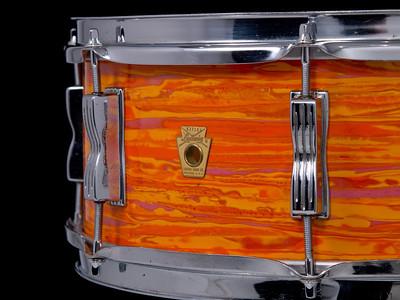 Ludwig, Jazz, Festival, Vintage, Snare, Drum, Keystone, Mod, Orange