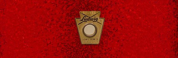 Ludwig, Pioneer, Vintage, Snare, Drum, Keystone, Red, Sparkle