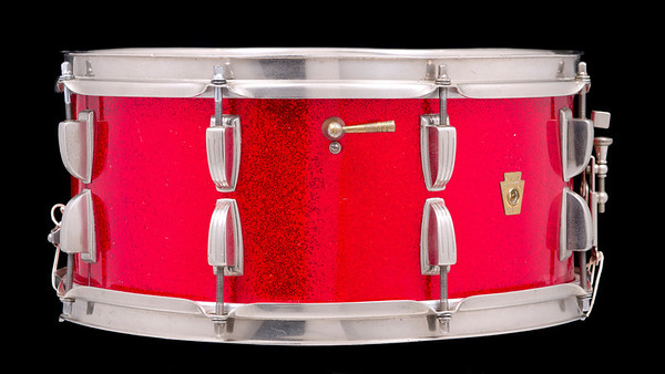 Ludwig, School, Festival, Vintage, Snare, Drum, Keystone, Red, Sparkle