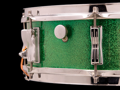 Ludwig, Super, Classic, Vintage, Snare, Drum, Green, Sparkle