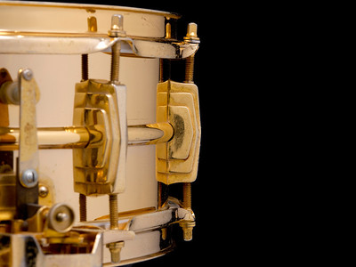 Ludwig, Super, Sensitive, Vintage, Snare, Drum, 24-k, Gold, Plated, Keystone, Ringo, Starr, Bobby, Christian, Joe, Morello, Dick, Schory, Pre-serial