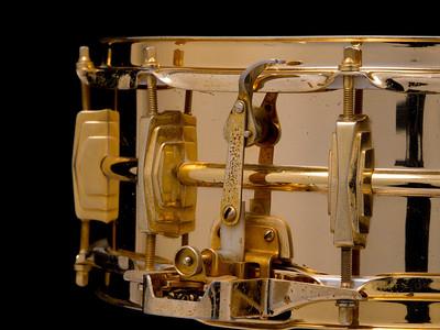 Ludwig, Super, Sensitive, Vintage, Snare, Drum, 24-k, Gold, Plated, Keystone, Ringo, Starr, Bobby, Christian, Joe, Morello, Dick, Schory, Pre-serial