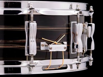 Ludwig, Tivoli, Vistalite, Jazz, Festival, Vintage, Snare, Drum, B/O, Blue, Olive, Smokey, Grey