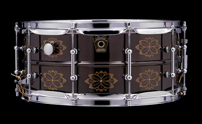 Ludwig, Black, Beauty, Vintage, Snare, Drum, Large, Keystone, tube, Flower, Engraving, Engraved, Limited, Edition