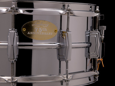 Ludwig, Supraphonic, Vintage, Snare, Drum, Large, Keystone, 75th., Anniversary, 1984, Alloy, Imperial