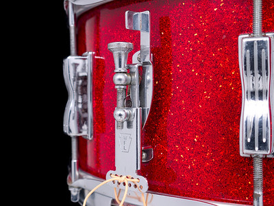 Ludwig, WFL, Red, Sparkle, Snare, Drum, Contest, Glitter, Keystone