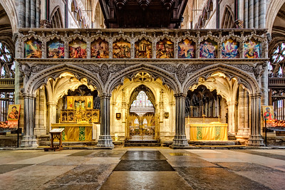 The Rood Screen at Exeter Cathedral