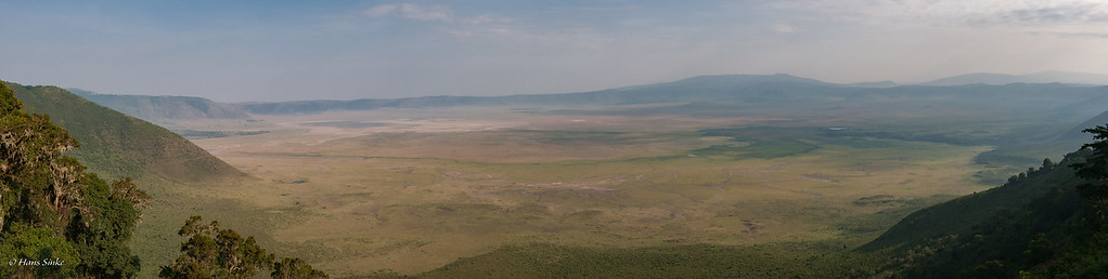 Panorama view of Ngorongoro Crater