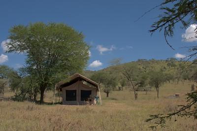 Our tent at Serengeti Kati Kati Tented Camp