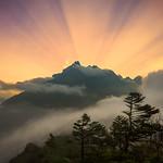 Sunset at Tengboche