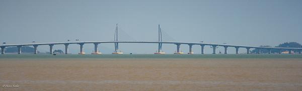 Part of the 39km Hong Kong–Zhuhai–Macau Bridge (HKZMB), soon to be opened.