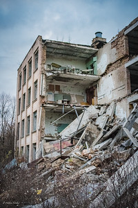 The first collapsed building in Pripyat.