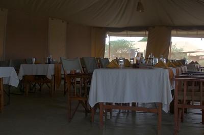 Dinner area at Kenzan Tented Camp