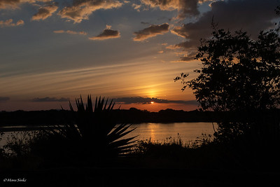 Sunset at Selous Jimbiza Camp 1