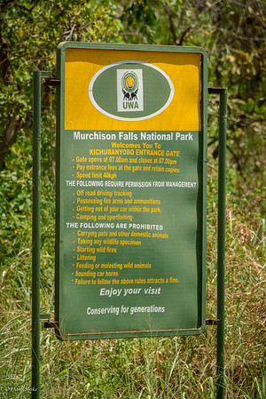Entering Murchison Falls National Park