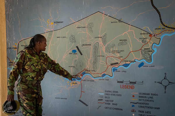 Lion King Bush Camp on the map of Samburu National Reserve