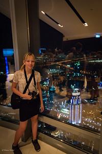 Nikki on viewpoint Burj Khalifa