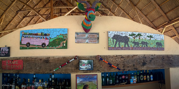 Lovely mosaic in the camp bar