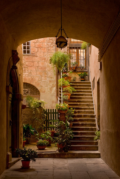Archway in Orvieto, Italy