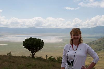 Joni at NgoroNgoro Crater rim