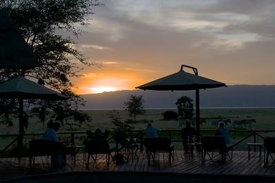 Sunset at Maramboi Tented Camp