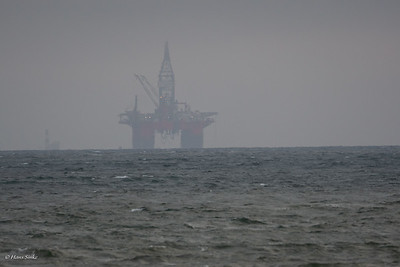 Oil rig of the coast at Walvis Bay