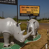 Signpost for  Ziwa Rhino Sanctuary
