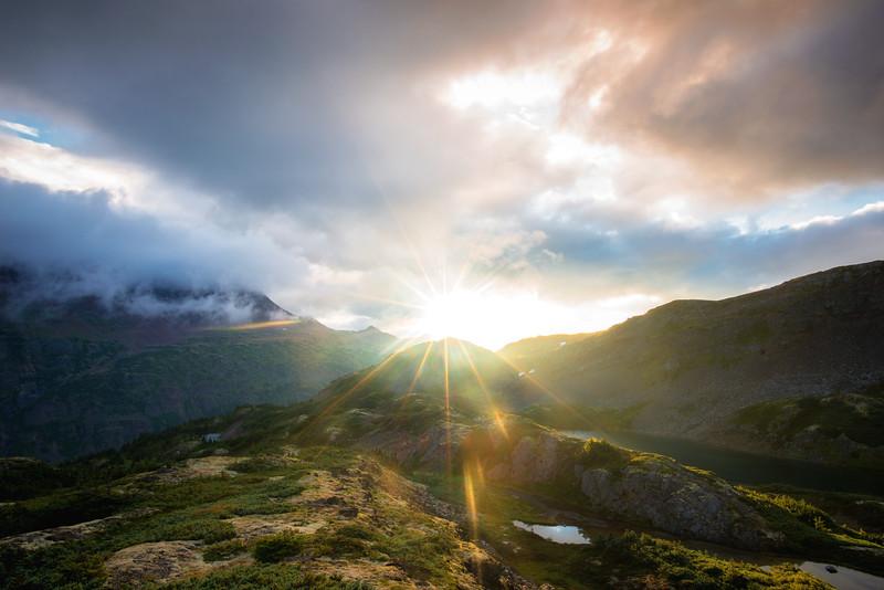 Sunrise in the Alpine Meadow
