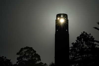 Sunset behind Coit Tower