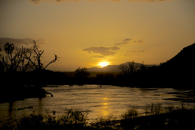 Sunset at Samburu National Reserve, Kenya