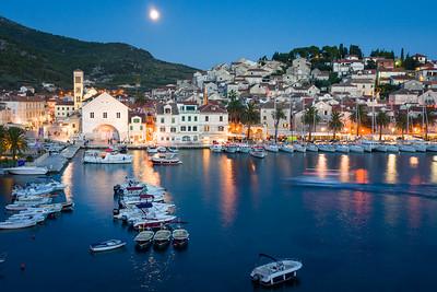 Hvar Town Harbour, Hvar Island, Croatia