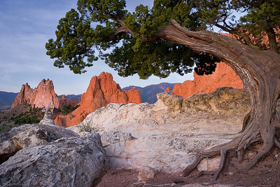Sunrise in Garden of the Gods, Colorado