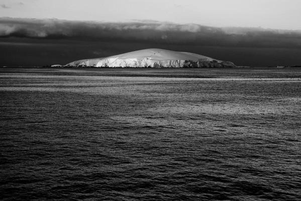 Antarctique en noir et blanc