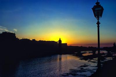Florence - River Arno at Sunset 7 nps