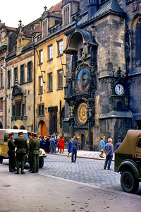 700823 Russian Solders at Clock in Praha 13-30