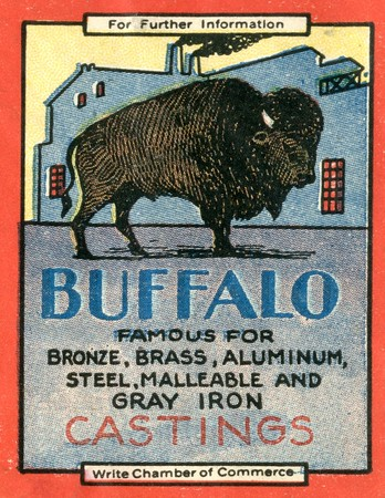 Buffalo famous for bronze, brass, aluminum, steel, malleable, and gray iron castings