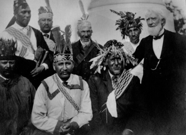 Group of Chiefs at the Grave of Red Jacket