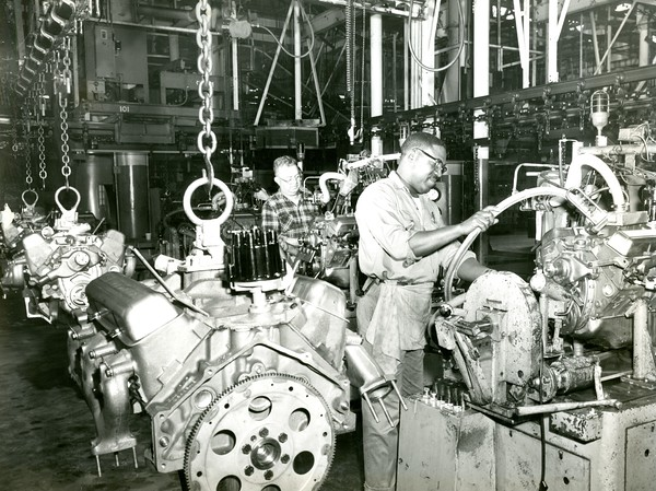 Automobile assembly workers