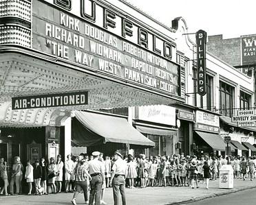 Moviegoers lined up at Shea's Buffalo