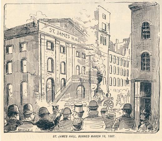 St. James Hall Burned