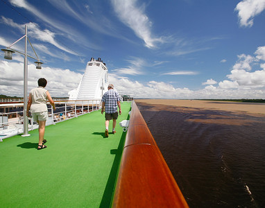 Mixing of the Amazon and Rio Negro close to Manaus Brazil