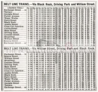 Belt Line Schedules