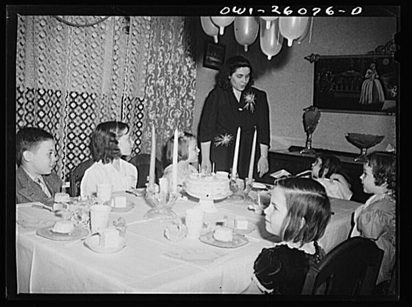 Buffalo, New York. Mrs. Grimm, a twenty-six year old widow, with six children under twelve, is a crane operator in a war plant.