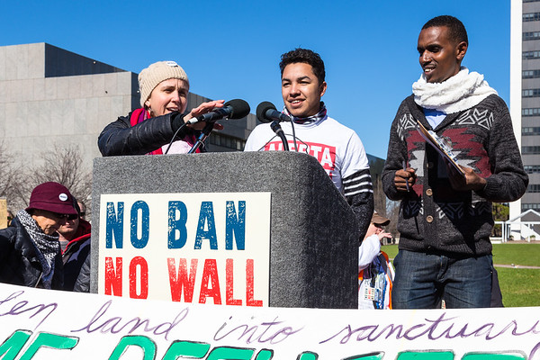 No Ban No Wall Rally