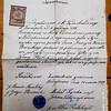Посвідчення (Poswiaczenie).  Бедриківці. 14 березня 1899