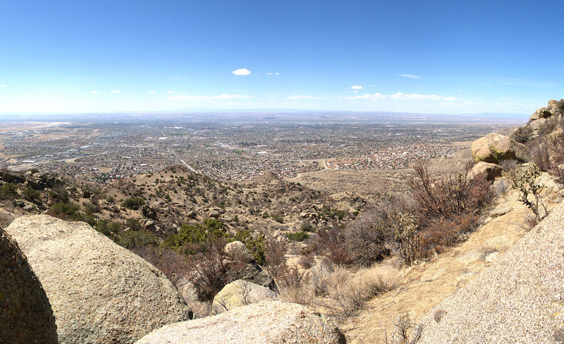 Week 14: A view of Albuquerque taken from the southern end of the Sandia Mountains.