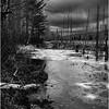 Adirondacks Lake Durant November 2015 Frozen Pond 3 BW