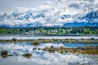 Fort Seward and the Chilkat Range from Picture Point.